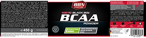 BBN Hardcore BCAA Black Bol Powder Lemon 450 g - 2