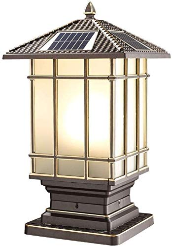 AXWT High Grade Column Headlight Villa Wall Light European Style Garden Light Outdoor Pillar Light Street Light Outdoor Waterproof Wall Light Column Lamp Porch Lighting E27 Street Light Solar Powered