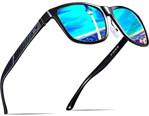 ATTCL Men's Retro Metal Frame Driving Polarized Sunglasses For Men 18587blue