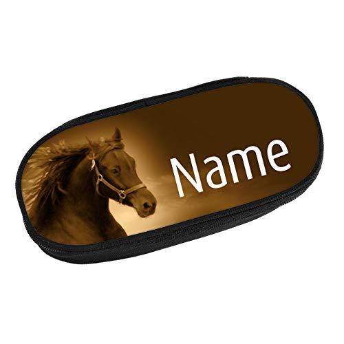 Striefchen® Federmappe mit Wunschnamen - Motiv: Pferd Stiftebox