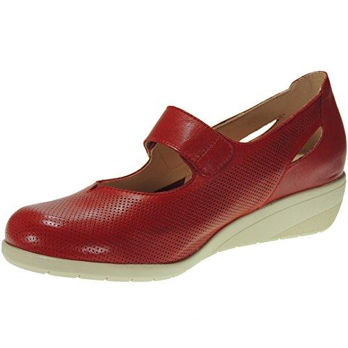 TUPIE 71TP Zapato Comodón en Cuña de 4CM y Velcro para Mujer
