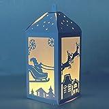 YunTrip Matrice de découpe en métal pour la fabrication de cartes, lanterne de Noël en forme de lanterne de Noël pour bricolage, scrapbooking, album, gaufrage, cartes en papier décoratives
