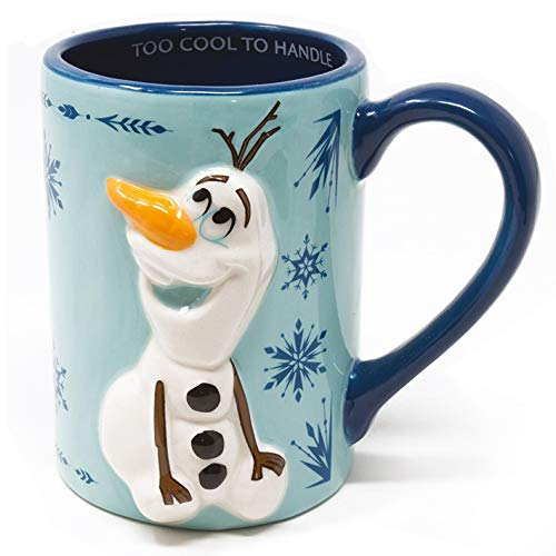 Frozen II 3D-Tasse Olaf Too Cool To Handle blau, bedruckt, 100% Keramik, Fassungsvermögen ca. 315 ml..