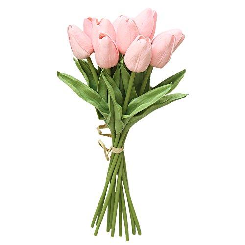 Dvhblxux Fleur artificielle Tête de Rose, Real Touch artificielles roses pour décoration de fête de mariage Album Décoration de la Maison A