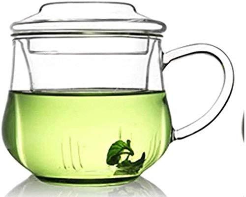Bouilloire induction Home tasse verre résistant à la chaleur épaissie bouilloire transparente bouilloire transparente avec théière à thé de couvercle pour bureau extérieur WHLONG