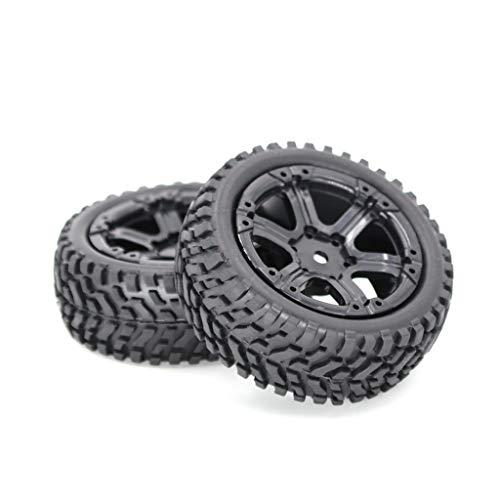 Vobery 2PCS Neumático de Goma para Coche, neumático de 75 mm para 1:16 RC Rock Crawler Buggy Car Truck (A)
