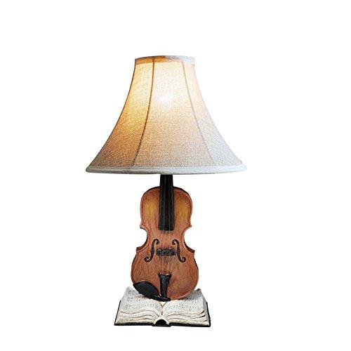 Viool gevormd gedecoreerde bureaulamp Europees stijlvol bedlampje hars E27 tafellamp voor studie kamer woonkamer kantoor slaapkamer café bar