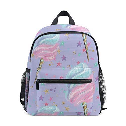 Rucksack Zuckerwatte EIS Einhorn Casual Daypack Cute Rucksack Schultaschen für Studenten Mädchen Jungen