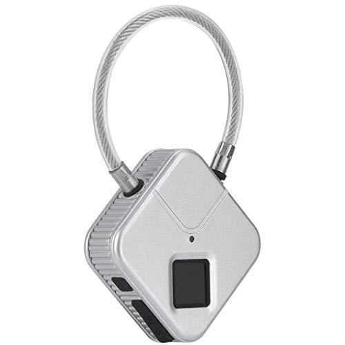 XJJZS Fingerprint Lock,Bag Padlock with Metal IP66 Waterproof,Suitable for Gym Locker,School Locker Lock,Backpack,Suitcase,Travel Luggage (Color : B)