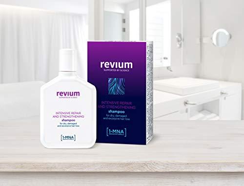 Revium, shampoo anticaduta ad azione profonda, da donna, con molecole 1-MNA, per capelli secchi e danneggiati, 200 ml