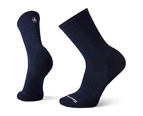 Smartwool Men's Athletic Crew Light Elite Merino Wool Socks, Deep Navy, Extra Large