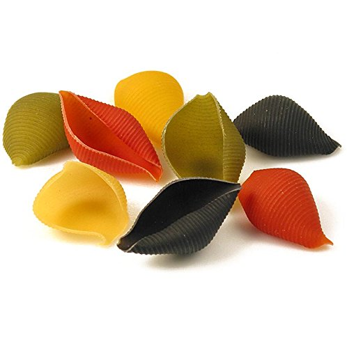 Große Muschelnudeln zum Füllen, Conchiglioni Arleccino, 4-farbig, 500g.