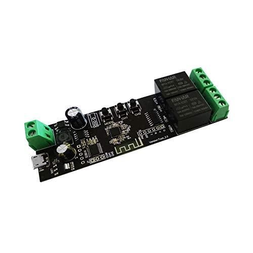 2 canali WiFi Momentary Inching Relè Modulo Interruttore Smart Life/Tuya APP Telecomando Wireless Relè per porta del garage