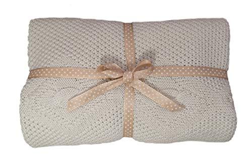 Copertina in 100% lana vergine Merino morbida e naturalmente calda ideale come coperta passeggino culla o lettino perfetta per regalo Baby Shower