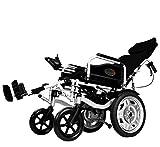LunY Silla de Ruedas Eléctrica - Plegado Automático Inteligente - Ligero para Personas Mayores con Discapacidades - Scooter Viejo - Andador,E,Plegable