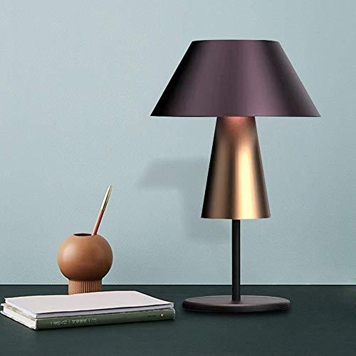 YANQING duurzame metalen decoratieve tafellamp paars stof lampenkap moderne minimalistische led warm licht woonkamer slaapkamer bureau kantoor 34 * 34 * 65 cm oplichting leven