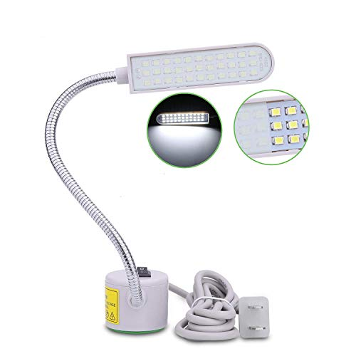 Tohoer Multi-Task LED Light with 6 Watt 33 Daylight LEDs-Multifunctional Flexible Gooseneck Arm Work Lamp for Workbench Lathe Drill Press Gray and car Repair (6)