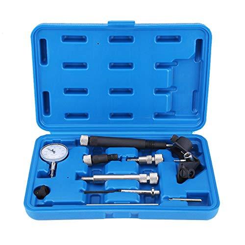 Motor Einstellwerkzeug, Einstellwerkzeug Satz für Dieselpumpen 10-tlg, Messuhr Diesel Einspritzpumpe Steuerzeiten Werkzeug für die meisten Autos