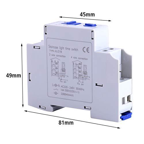 FOLOSAFENAR Interruptor de Escalera, Rendimiento Estable, Interruptor de Tiempo de interferencia Anti-electromagnética, Material plástico ABS, para Caja de lámpara publicitaria