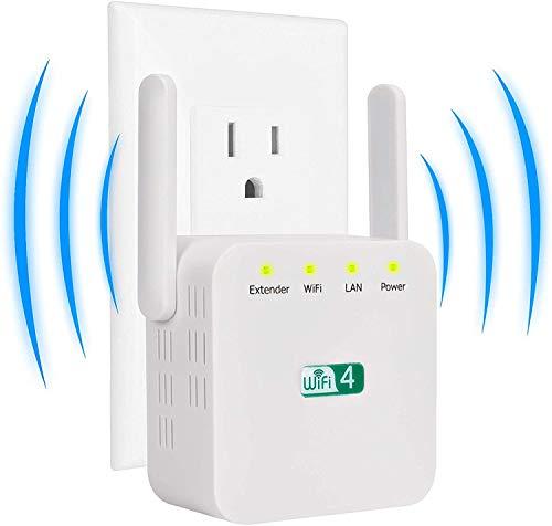 TCNEWCL WiFi Repetidor 300Mbps 2.4 GHz Amplificador de Señal de Red WiFi...