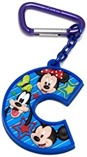 Mickey and Friends Letter C Laser Cut Keychain