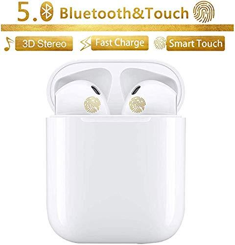 Bluetooth-Kopfhörer, kabellose Touch-Kopfhörer HiFi-Kopfhörer In-Ear-Kopfhörer Rauschunterdrückungskopfhörer,Tragbare Sport-Bluetooth-Funkkopfhörer,Für Android/iPhone/Samsung/A-irPods Pro