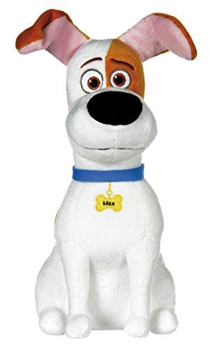 Comme des Bêtes (The Secret Life of Pets) - Max, chien blanc avec des taches brunes 29cm - Qualité super soft