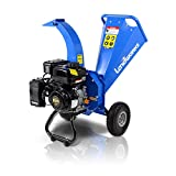 Landworks Mini Wood Chipper Shredder Mulcher Super Heavy Duty 7 HP 212cc Gas Powered 3' Inch Max Wood Diameter Capacity EPA/CARB Certified Aids in Fire Prevention & Building a Firebreak