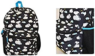 Snoopy in the Cloud and Woodstock Black 16 Full Size Backpack