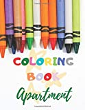 Apartment coloring book: Fantastic learning of items from apartament through play. Gift for Girls and Boys (Coloring book for kids ages 4-8, 52 Pages, 8,5 x 11)