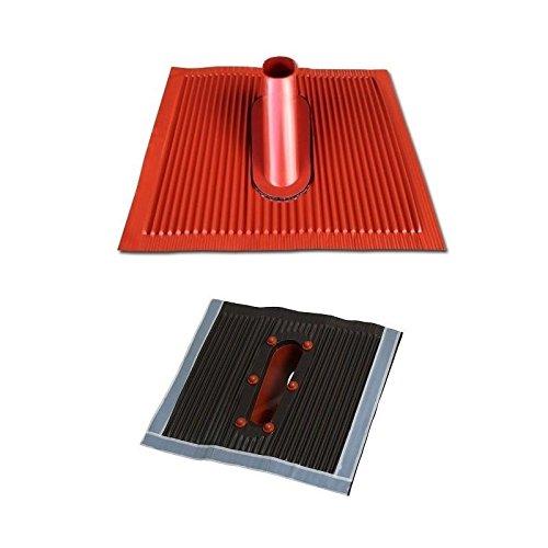 Aluminium Dachabdeckung Alu Dachziegel Rot Dach Montage Abdeckung Ziegel Dachpfanne für Sat Dachsparrenhalter Universal Dach Pfanne ziegelrot braun