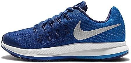 Nike Boys Zoom Pegasus 33 (GS) Running Shoe Game Royal/Metallic Silver/Photo Blue Size 4 M US