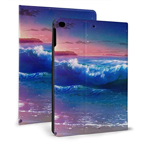 Sunset Sandy Beach Sea Waves Mountains Tropical Forest Case For Ipad Mini 4/5 7.9 Inch Cover Protective Smart Trifold Stand Cover With Auto Sleep/Wake For Apple Ipad Tablet