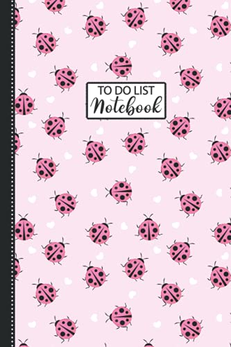 Ladybug To-do List Journal: Cute Baby Ladybug Notebooks And Journal: 110 Pages 6x9' Ladybug To-do List For Teens Kids Students Girls Gift