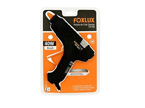 Pistola de Cola Quente Foxlux – 40W – Média – Bivolt – PVC/Alumínio – Uso Profissional e Doméstico – Ideal para papel, plástico, madeira e tecidos – Preta