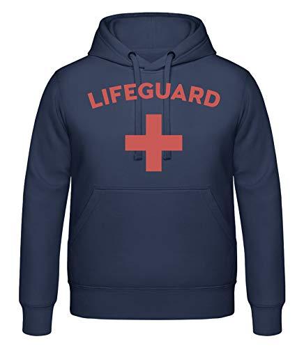 Shirtinator, Lifeguard, Pullover Hoodie T-Shirt, Fun lustige Geschenkideen Weihnachten Geburtstag, blau, XXL