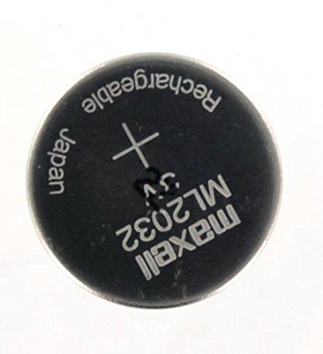 Maxell ML2032 ML 2032 Pila Batteria Ricaricabile Rechargeable Coin Cell Battery