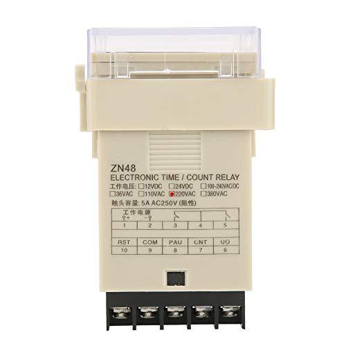 32 Funciones Relé de tiempo digital Relé de tiempo digital Contador de relé de tiempo digital ZN48 Relé de temporizador digital AC220V Multifunción 6 Modos para control remoto