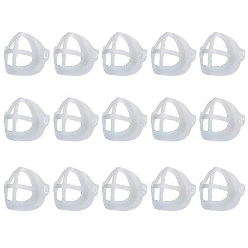 LUCKME 15/20/30/50/100 Stück Mundschutz Halterung Erwachsene 3D Face Bracket, Wiederverwendbare Atmen Stützrahmen Innenkissen Atmungsaktiv Innenpolster Halterung Lippenstift Schutz Halter