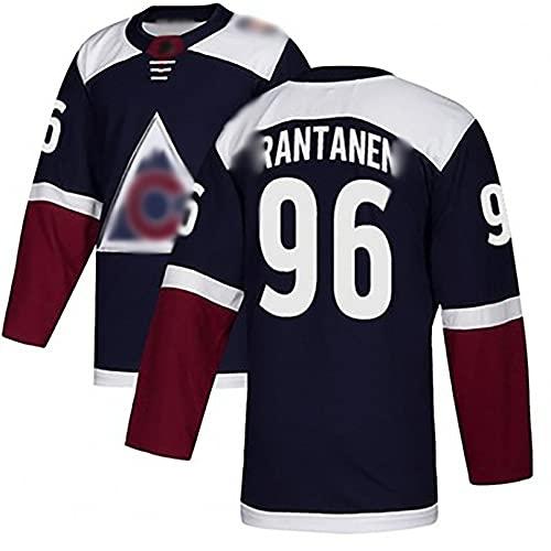 Jersey de Hockey del Equipo Avalanche 96RANT Jersey Camiseta de Manga Larga Deportiva y de Ocio Transpirable M A