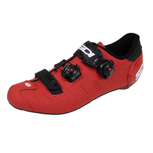 Ergo 5 Carbon Road Cycling Shoes (45.5, Matte Red/Black)