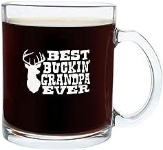 Christmas Gifts for Grandpa Best Buckin' Grandpa Ever Funny Hunting Gag Gift Glass Coffee Mug Tea Cup