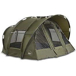 Lucx® Tente de pêche à la carpe / Bivouac pour 1 à 3 personnes Motif léopard 10 000 mm