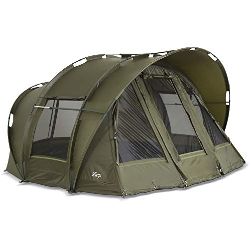 Lucx® Leopard Bivvy Angelzelt 2 bis 3 Personen Karpfenzelt 2 bis 3 Mann Anglerzelt Carp Dome Fishing Tent 10.000mm