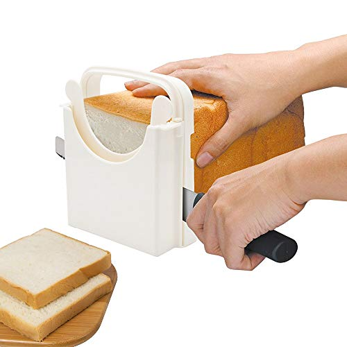 POLARHAWK Bread Slicer,Adjustable Toast Slicer,Foldable and Customizable Loaf Cutter with Cutting...