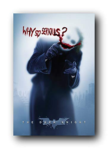 Sweetums Signatures Batman: The Dark Knight Movie: Joker (Heath Ledger) 'Why So Serious' Poster,12x18inch,30x46cm