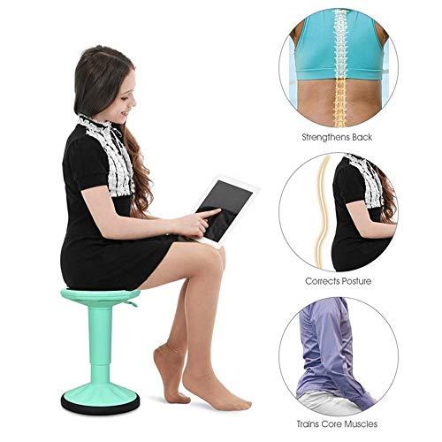 NNDQ Sedia Wobble Sgabello per apprendimento Attivo ad Altezza Regolabile Seduta Balance Chair, Sedia per Bambini Attiva - Pre-Scuola Sedia Wobble, per Ufficio Stand Up Desk
