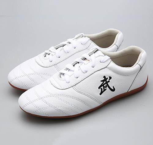XPF Zapatillas De Entrenamiento para Practicando Tai Chi Kung Fu Zapatillas para Taekondo Zapatos De Dichotomanthes Sole,White-42