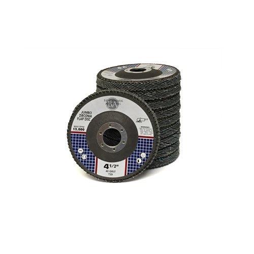 4.5x7/8 Jumbo Zirc Flap Disc Grinding Wheel 40 Grit - 100 Pack