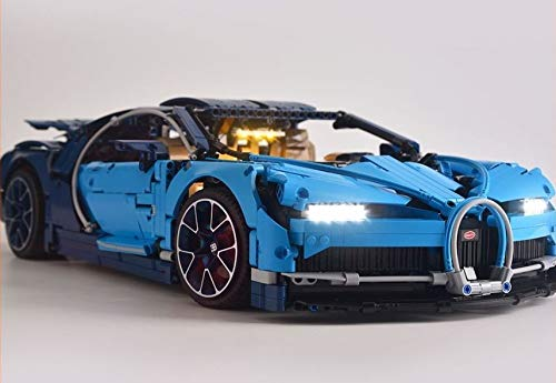 brickled LED Light Kit for TECHNIC Bugatti Chiron Model Lego 42083 USB Power (Lego Set no Included)